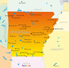 Map Of Illinois With Cities Map Arkansas Map Of Cities