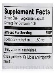 5 Htp Before Bed Htp 100 Vegetarian Capsules