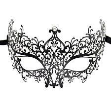 black metal venetian mask women halloween masquerade party