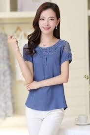 casual wear for women unomatch women summer casual wear lace blouse blue unomatch