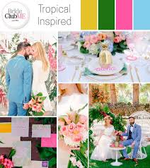 Tropical Theme Wedding - tropical inspired wedding colour scheme bride club me