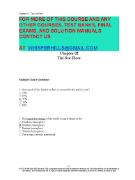 test bank for marine biology 9th edition by castro crust