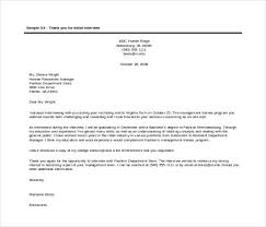 sample thank you letter after pa interview cover letter