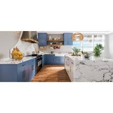 blue kitchen cabinets lifeart cabinetry lancaster medium blue plywood shaker stock
