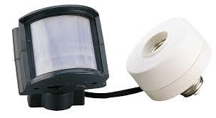outdoor light motion sensor adapter first alert outdoor motion sensing light socket outdoor lighting