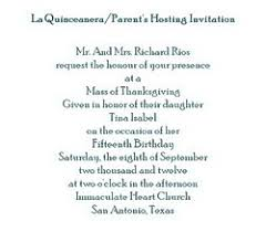 quinceanera invitation wording la quinceanera free suggested wording by theme geographics