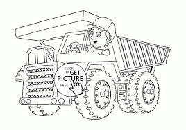 big cartoon truck coloring page for kids transportation coloring