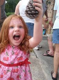 Excited Girl Meme - really excited little girl holding a pine come rebrn com