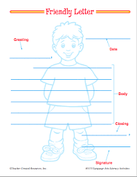 parts of a friendly letter worksheets mellos