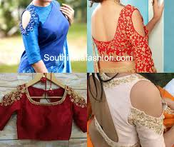 embroidered shoulder cut out cold shoulder blouse designs