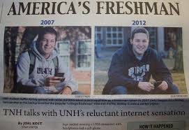 College Kid Meme - naive college freshman meme kid is now a senior discusses internet