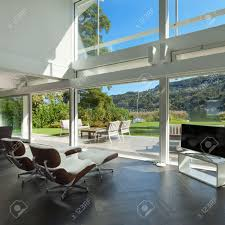Modern House Living Room Architecture Open Space Of A Modern House Living Room Stock