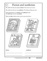 kindergarten reading writing worksheets fiction and nonfiction