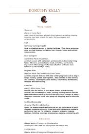 Sample Of Caregiver Resume by Sample Caregiver Resume
