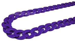 purple necklace chain images Purple chunky chain plastic link necklace craft diy 30 inch a26 on jpg