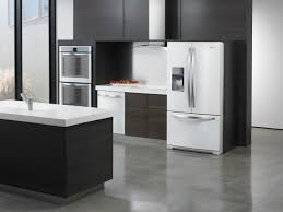 Kitchen Cabinet Refrigerator Cabinets U0026 Drawer White Kitchen Cabinets Black Granite Distressed