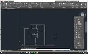 assignment 4 autocad floor plan owara iapd floor plan with exterior and interior walls