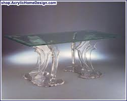 acrylic dining table base acrylic clear dolphin dining room table bases double triple