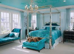 Beautiful Sea Blue Decoration Exotic Girls Room Furniture - Exotic bedroom designs