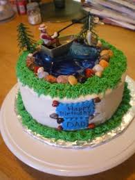 grooms cakes with a fishing theme in fishing themed groom s cake