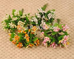 fruit flower arrangements foam pearl with leaves artificial mini fruit flower