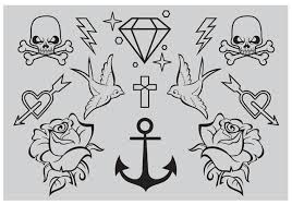 new school tattoo drawings black and white tattoo free vector art 1849 free downloads