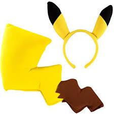 Pikachu Costume Amazon Com Coco James Pokemon Pikachu Costume Kit Clothing