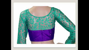 net blouse pattern 2015 full hand net blouse designs youtube