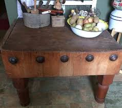 kitchen island butcher block table antique butcher block ebay