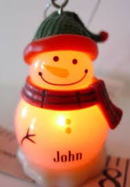 ganz globe ornament snowman does not blink on and