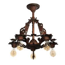 Spanish Revival Chandelier Antique Spanish Revival Chandelier With Shields C 1920