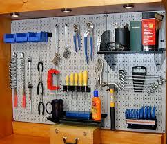 Peg Board Shelves by Workbench Pegboard Pegboard Ideas