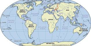 continents on map continent geography britannica com
