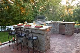 outdoor kitchen ideas patio rustic with barn lights big chill