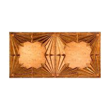 fasade art deco 2 ft x 4 ft glue up ceiling tile in muted gold
