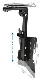 Tv Mount For Window Mount M Fd37b Vivo Black Manual Flip Down Mount Folding Pitched