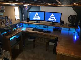 Custom Gaming Desks Paragon Gaming Desk Brubaker Desk Ideas