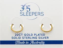 gold sleeper earrings 1 pair 22ct gold plated sterling silver sleeper earrings 365