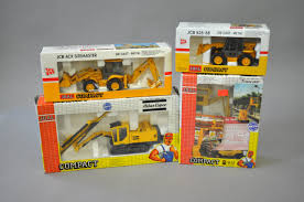 four joal compact diecast model construction vehicles atlas copco