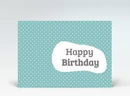 geburtstagskarten design geburtstagskarte postkarte mid century style happy birthday blau