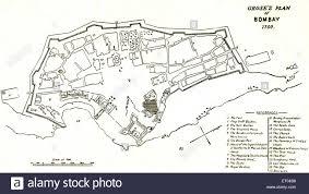 Bombay India Map by Bombay Map Grose U0027s Plan Of Bombay 1750 Mumbai Maharashtra