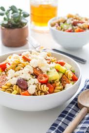 pasta salad greek pasta salad recipe