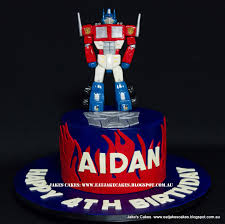 optimus prime cakes jakes cakes optimus prime transformers cake birthday cake perth