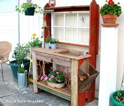 i love that junk selectively salvaged wood potting bench julie