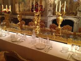 gold table setting picture of waddesdon manor waddesdon