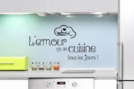cuisine de tous les jours sticker toque de cuisinier et textes citations de cuisine décorécébo