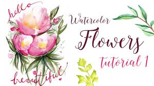 Watercolor Flowers - watercolor flowers tutorial quick and easy youtube
