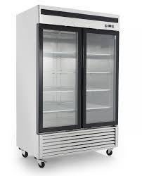 chefsfirst refrigerator reach in glass door bottom mount 2