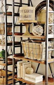 Baskets For Bookshelves Adding Farmhouse Charm By Decorating With Baskets The Cottage Market