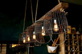 Wire Light Fixtures Tips Ideas Vintage Wire Baskets Turned Into Light Fixtures